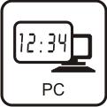 Uhrzeit über PC